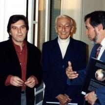 Jacques-Yves Cousteau et Jean Auroux. Photographie Gaston Bergeret