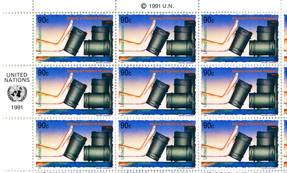 timbres ONU - Interdiction des armes chimiques