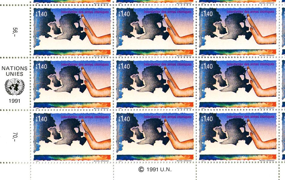 timbres ONU - Interdiction des armes chimiques