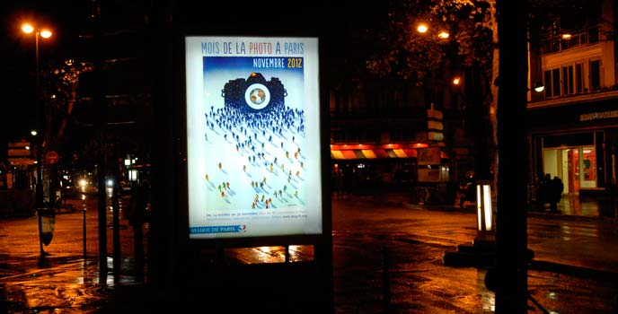 Mois de la photo à Paris - Affiche en situation