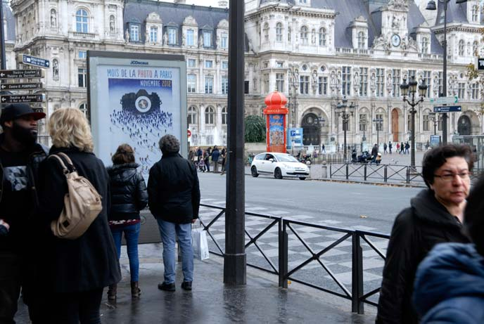 Mois de la photo à Paris - Affiche en situation