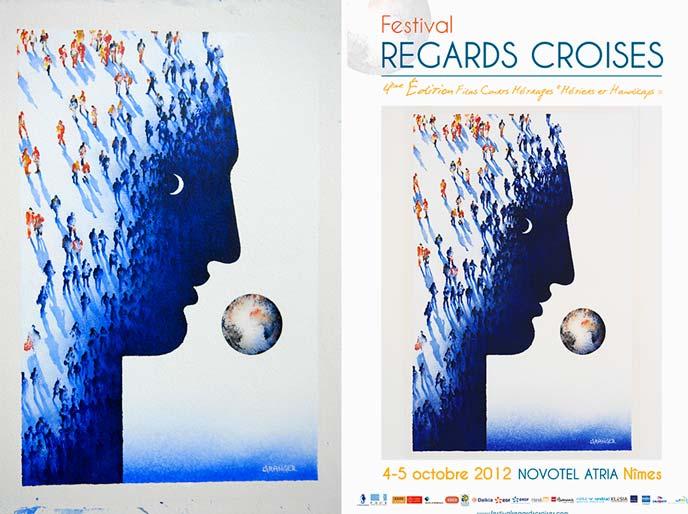 Michel Granger signe l'affiche du Festival REGARDS CROISÉS