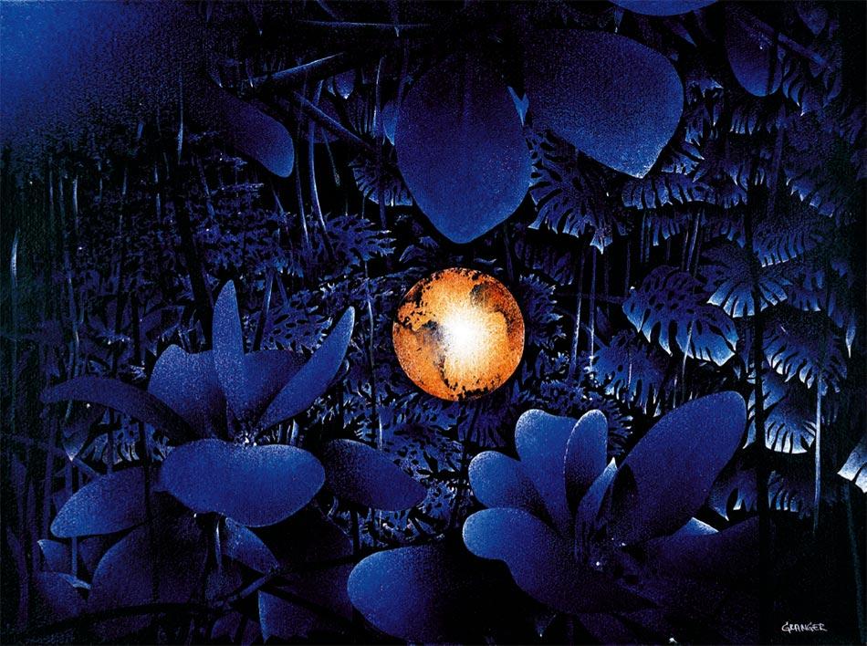 Un autre soir, 2001. Acrylique sur papier marouflé sur toile, 60 x 81 cm.