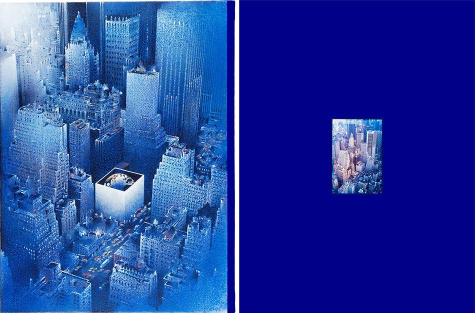 Série Lithographie, sérigraphie, épreuve pigmentaire - Michel Granger - L'Inventaire - largeur 96 cm - numérotées à 7 exemplaires. (1000 Euros)