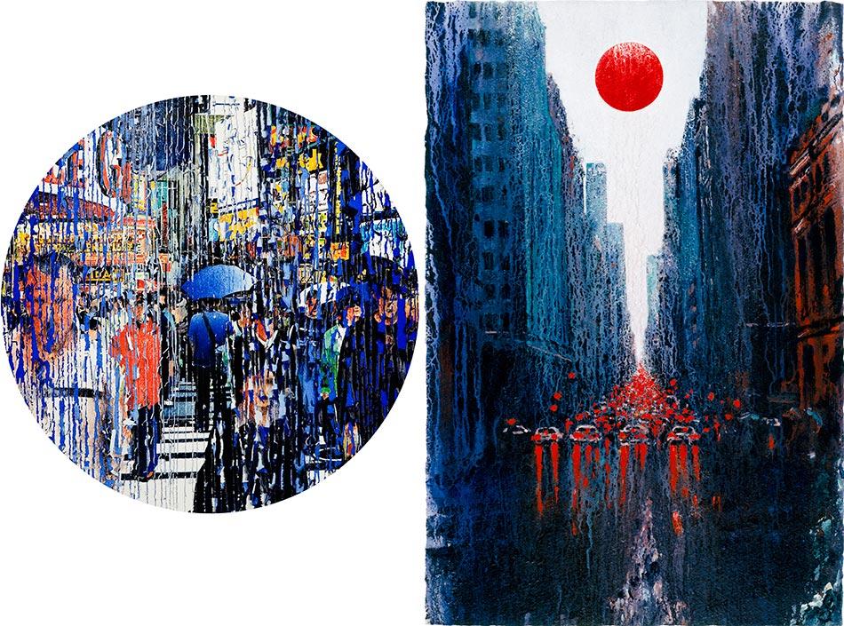 Série Lithographie, sérigraphie, épreuve pigmentaire - Michel Granger - l'artère principale