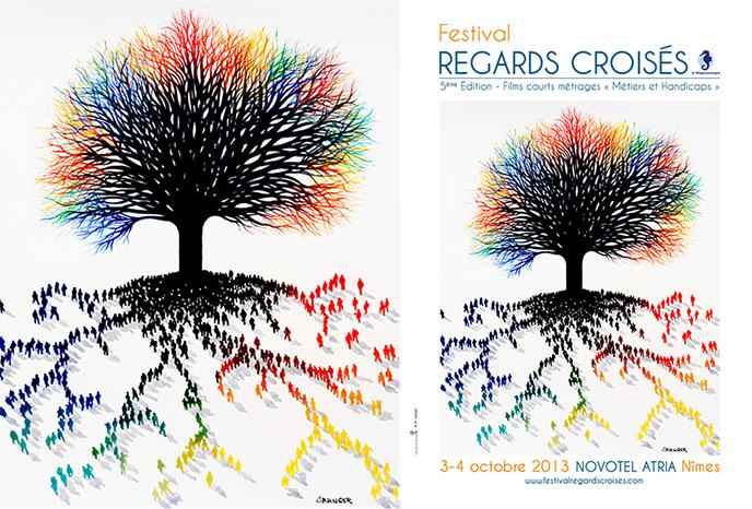 Michel Granger signe l'affiche du Festival REGARDS CROISÉS 2013