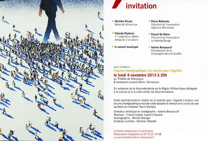 La marche pour l'égalité - Théâtre de Vénissieux