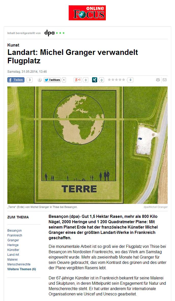 Land Art - Press review