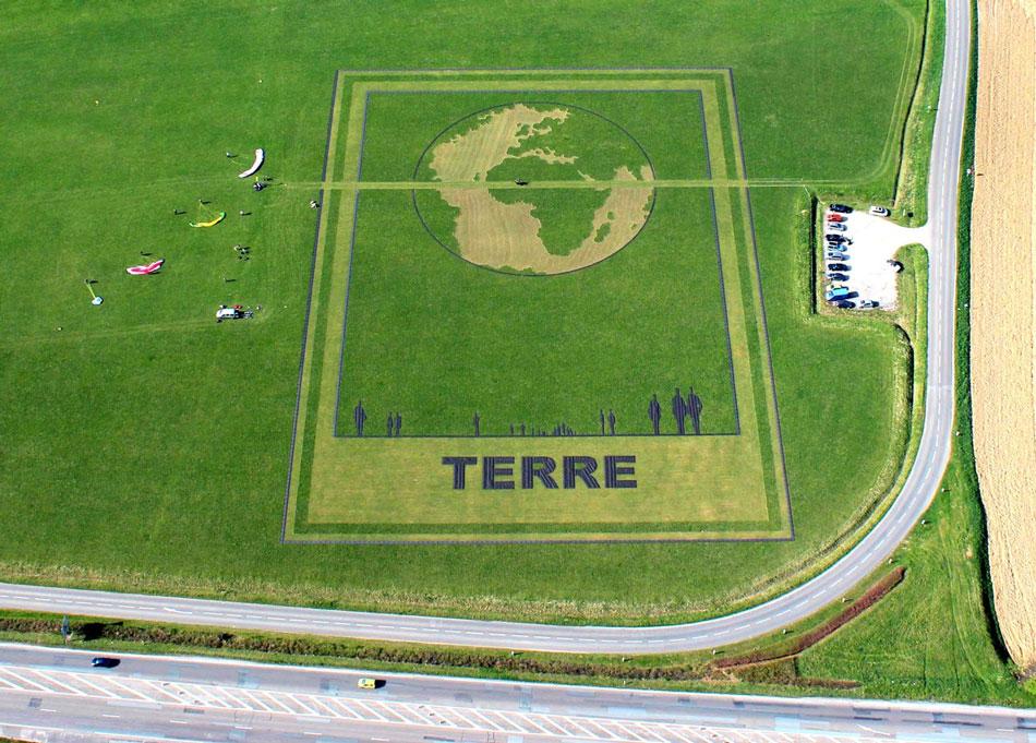 Land Art : Terre de Michel Granger & Franck Bonneau