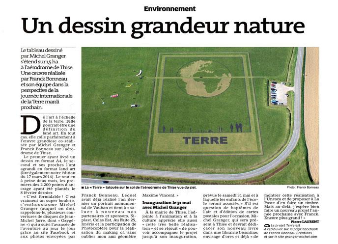 Land Art : Terre de Michel Granger & Franck Bonneau à l'aérodrome de Thise