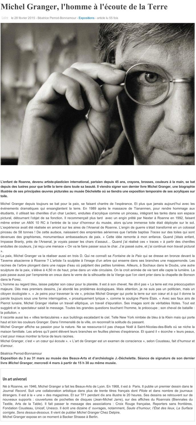 Michel Granger, l'homme à l'écoute de la Terre