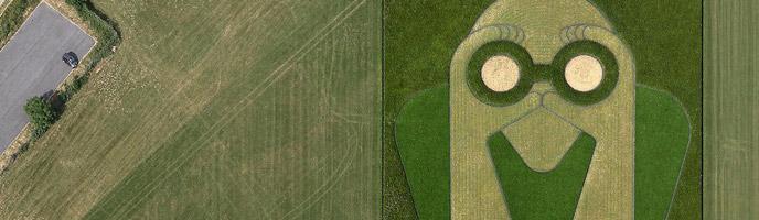 Land Art « Equinoxe » d'après le dessin original.