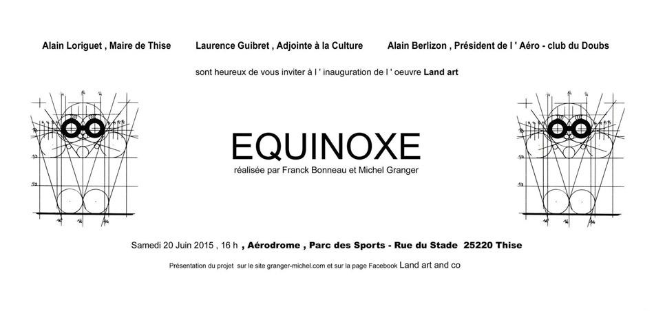 Land Art : Equinoxe de Michel Granger & Franck Bonneau