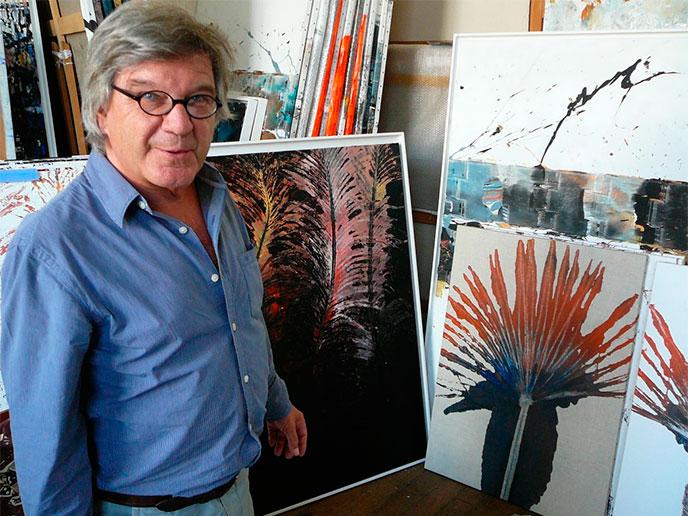 Peinture au Rouleau compresseur par Michel Granger
