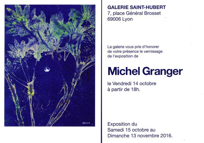 du 15 oct. au 13 nov. 2016 - Galerie Saint-Hubert - 7, place Général Brosset à Lyon
